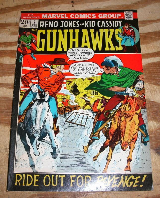 Gunhawks #2 very fine 8.0