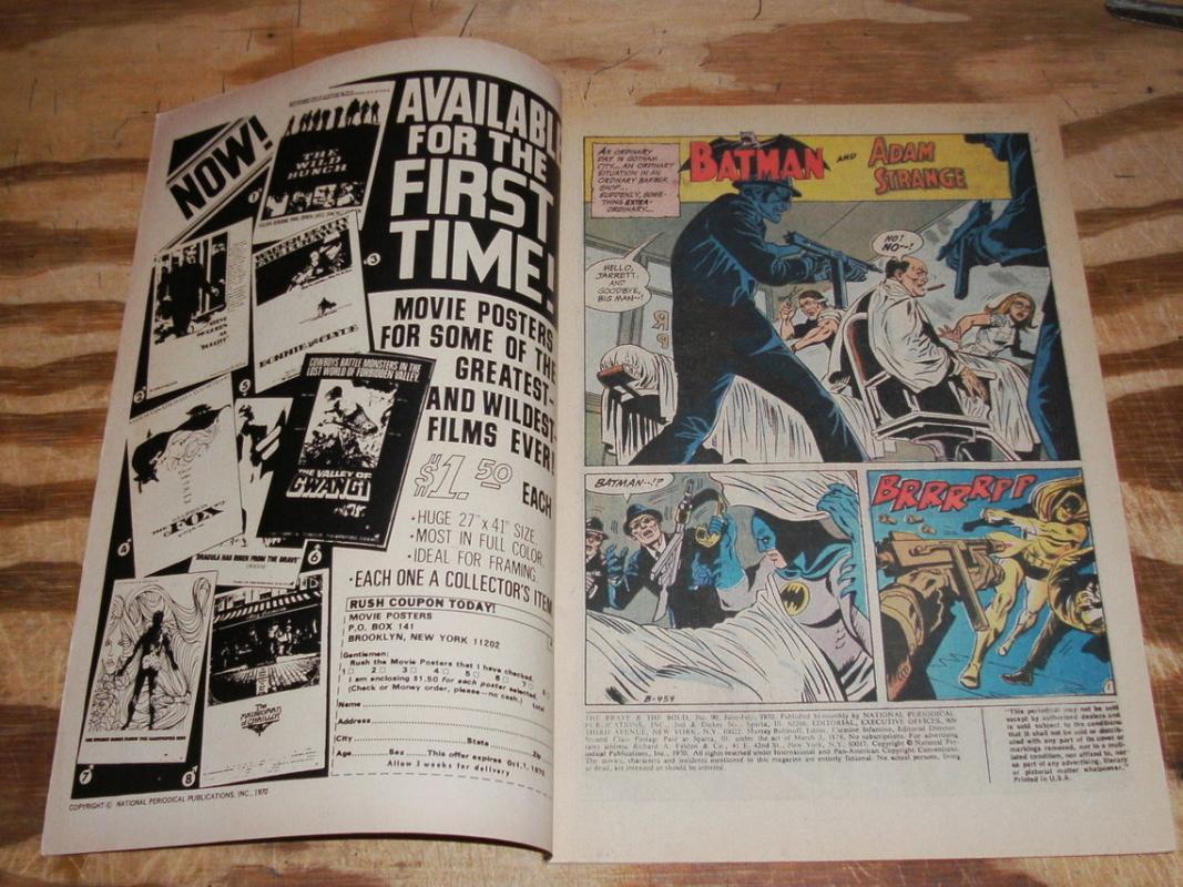 Brave and the Bold #90 comic book fine/very fine 7.0