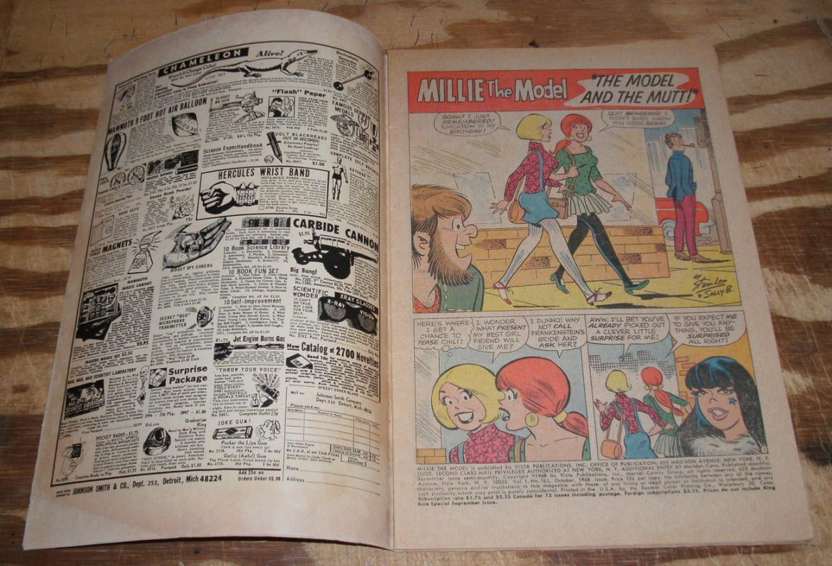 Millie the Model #163 comic book fine 6.0