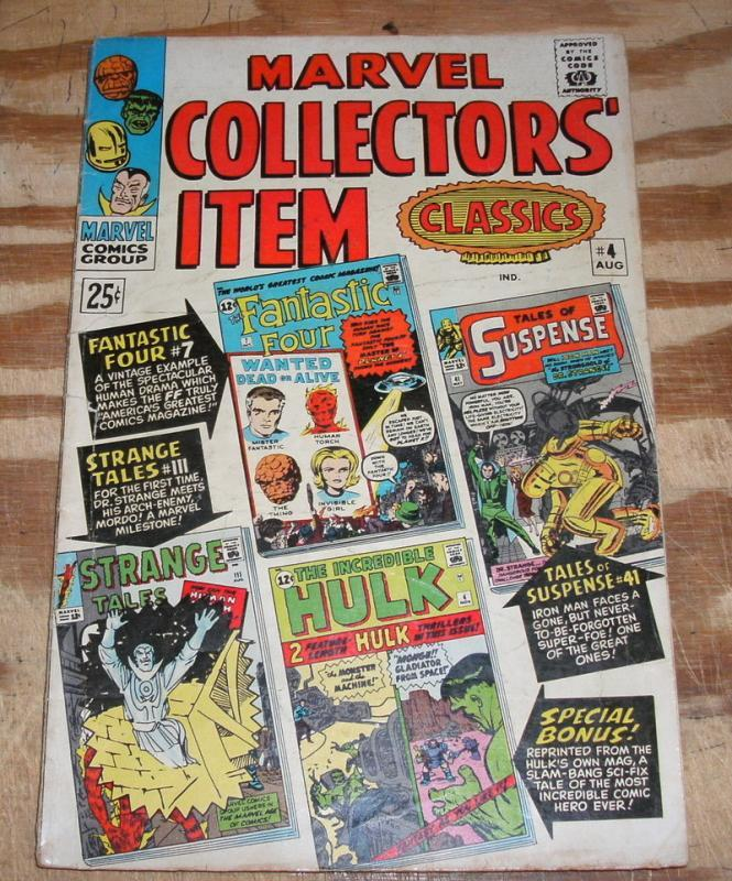 Marvel Collectors' Item Classics #4  very good/fine 5.0