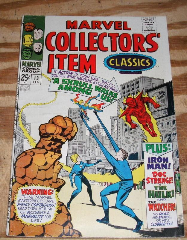 Marvel Collectors' Item Classics #13  very fine 8.0