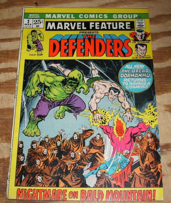 Marvel Feature Presents the Defenders #2 very good 4.0