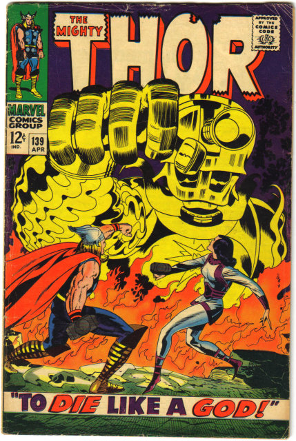 The Mighty Thor #139 comic book vg 4.0