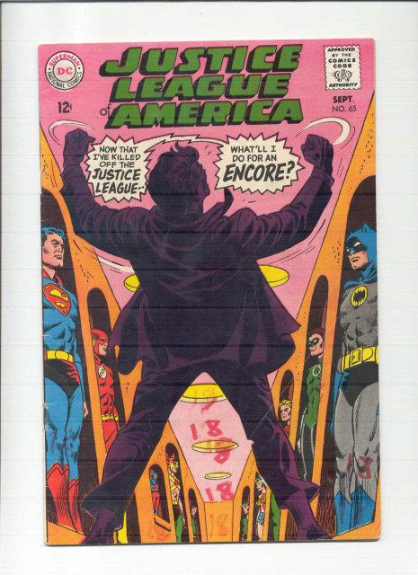 Justice League of America #65 comic book vg 4.0