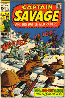 Captain Savage #16 comic book vf 8.0