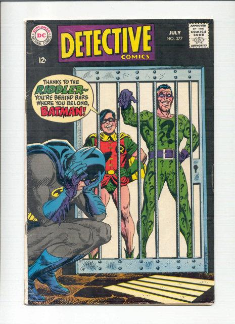 Detective #377 comic book vg 4.0