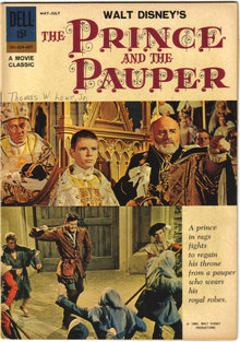 The Prince and  the Pauper movie comic book vg/fn 5.0
