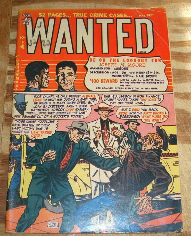 Wanted Comics #37 fine 6.0