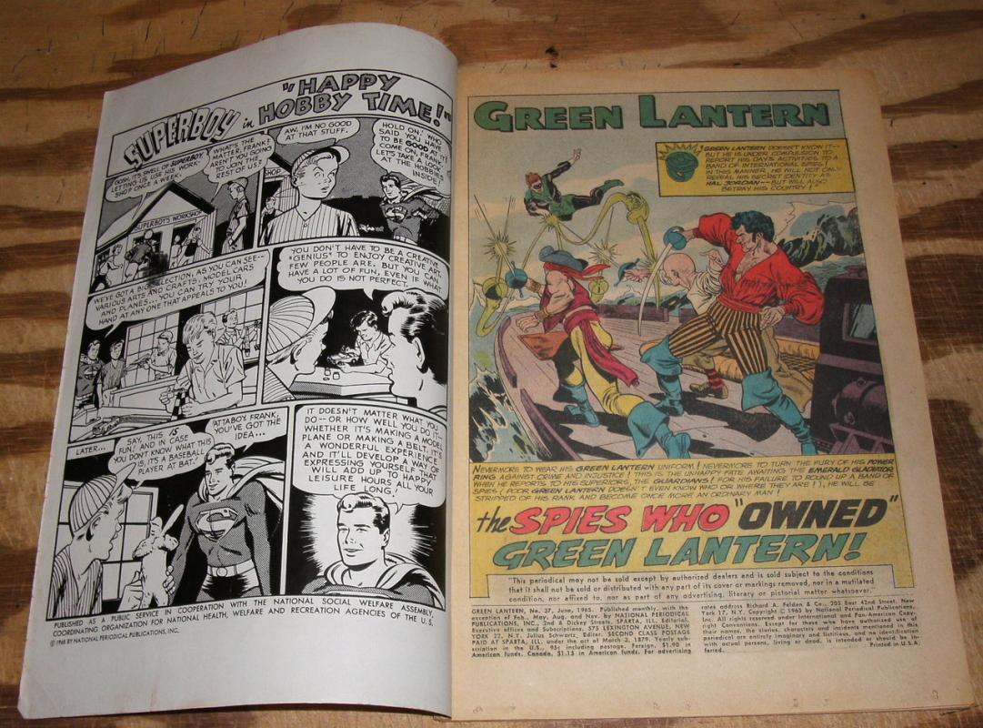 Green Lantern #37 comic book vg 4.0