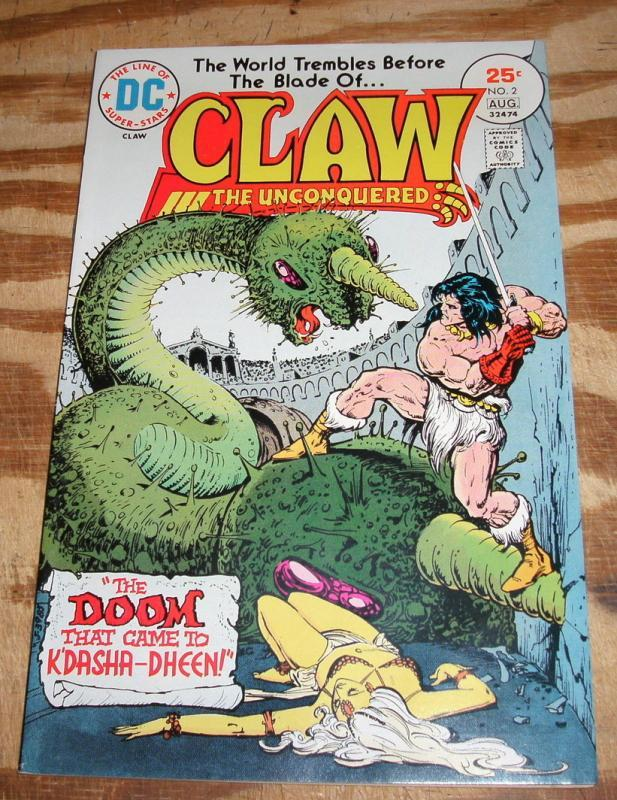 Claw the Unconquered #2 comic book near mint 9.4