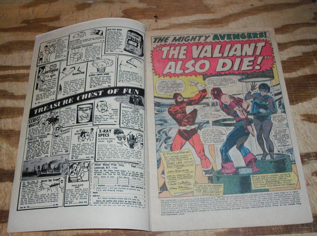 Avengers #44 very good/fine 5.0