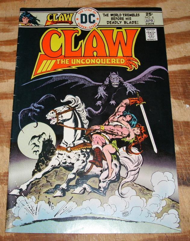 Claw the Unconquered #6 comic book fine 6.0