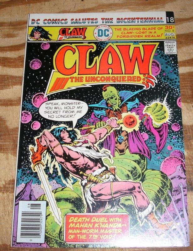 Claw the Unconquered #8 comic book near mint plus 9.6