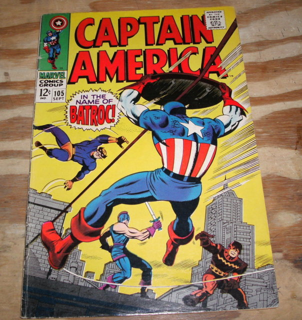 Captain America #105 comic book fine 6.0