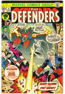 Defenders #8 comic book fine 6.0