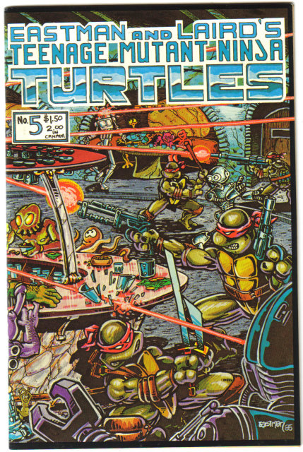 Teenage Mutant Ninja Turtles #5 comic book first print near mint 9.4