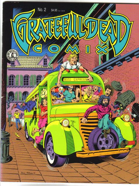 Assorted Grateful Dead  comic books (3 of em)