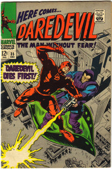 Daredevil the Man Without Fear #35 comic book fine 6.0