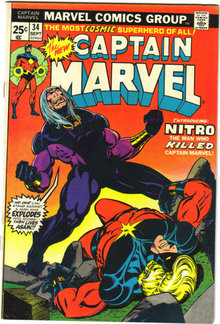 Captain Marvel #34 comic book very fine/near mint 9.0