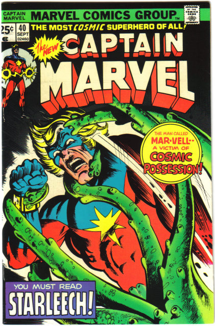 Captain Marvel #40 comic book near mint 9.4
