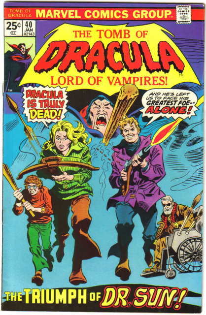 Tomb of Dracula #40 comic book fine/very fine 7.0