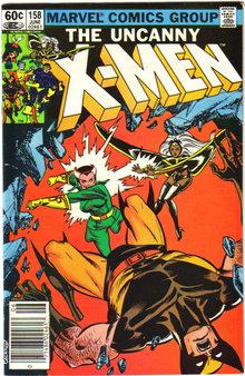 Uncanny X-Men #158 comic book very fine 8.0