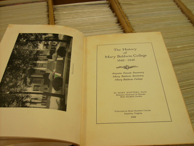 The History of Mary Baldwin College hardcover 1942