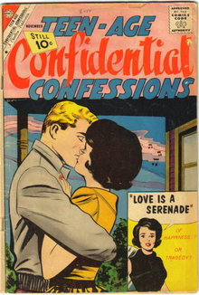 Teen-age Confidential Confessions #9 comic book very good 4.0