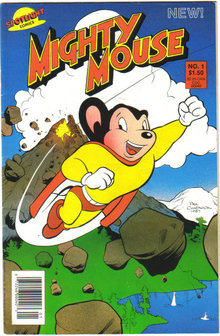 Mighty Mouse collection set of 2 comic books