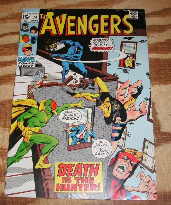 The Avengers #74 comic book very good/fine 5.0