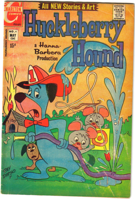 Huckleberry Hound #4  comic book very good/fine 5.0