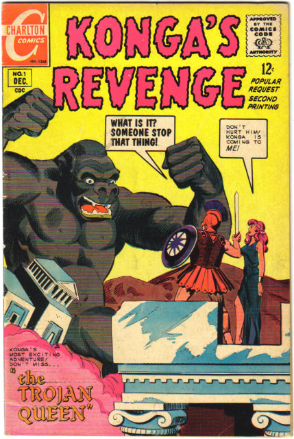 Konga's Revenge #1  comic book fine plus 6.5very good 4.0