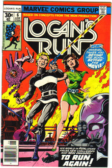 Logan's Run #6 comic book very fine/near mint 9.0