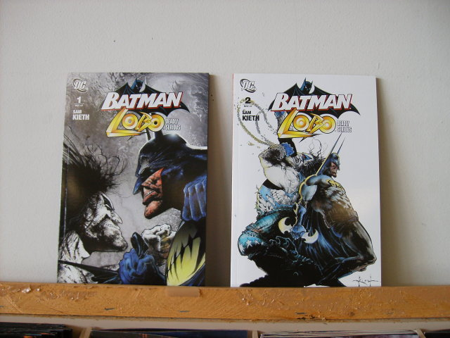 Batman Lobo Deadly Serious comic book set of 2 mint