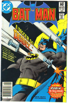 Batman #343 comic book near mint 9.4