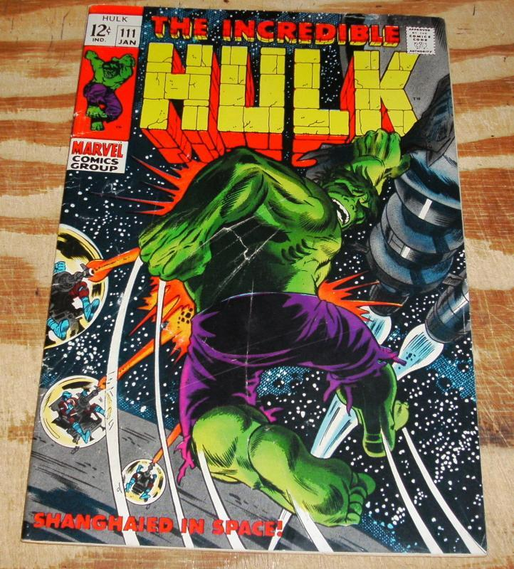Incredible Hulk #111 comic fine 6.0