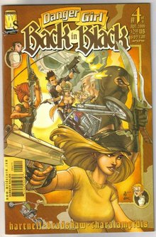 Danger Girl Back in Black set of 4 comic books