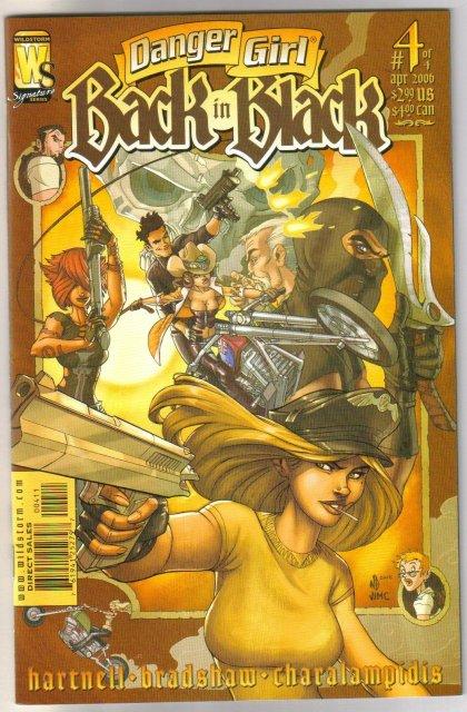 Danger Girl Back in Black set of 4 comic books