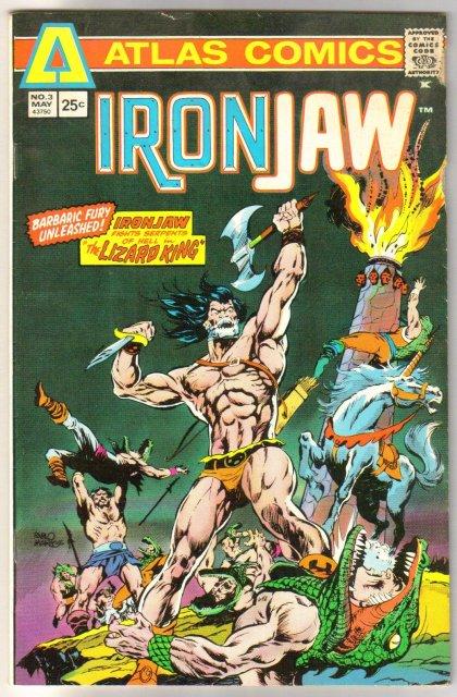 Atlas Comics' Ironjaw #3 comic book fine 6.0