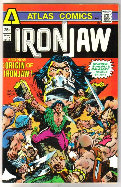 Atlas Comics' Ironjaw #4 comic book very fine 8.0