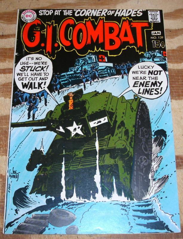 G.I. Combat #139 comic book very good/fine 5.0
