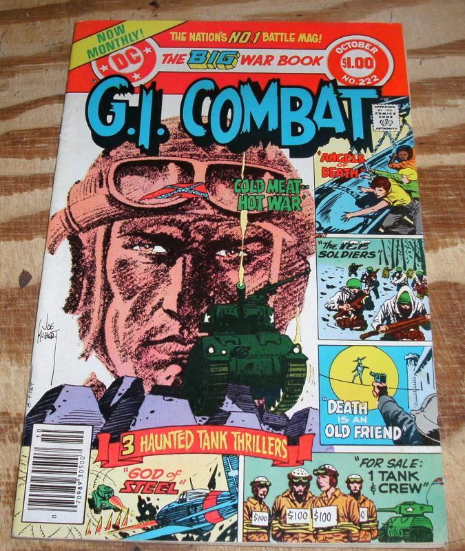G.I. Combat #222 comic book very fine + 8.5
