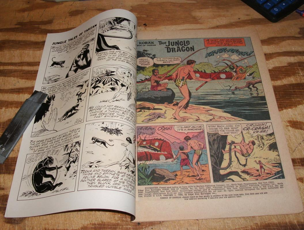 Korak Son of Tarzan #22 comic book very fine/near mint 9.0