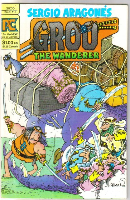 Groo #3 comic book original by Pacific Comics vf 8.0