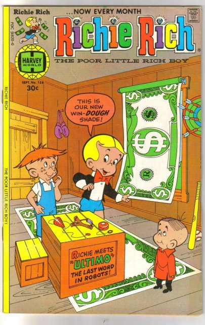 Richie Rich The Poor Little Rich Boy #158 very fine 8.0