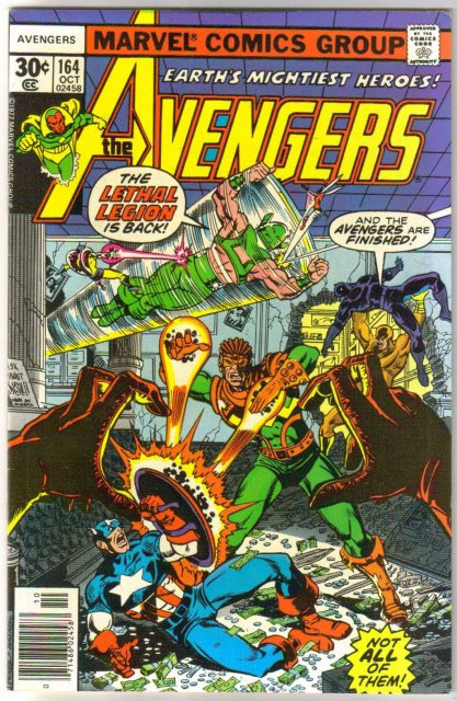 Avengers #164 comic book very fine/near mint 9.0