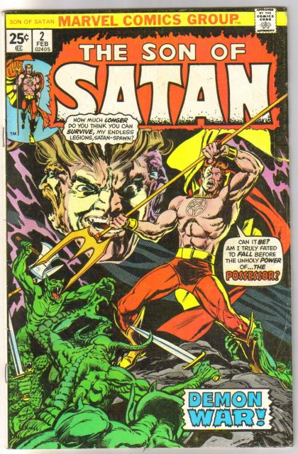 The Son of Satan #2 comic book fine/very fine 7.0