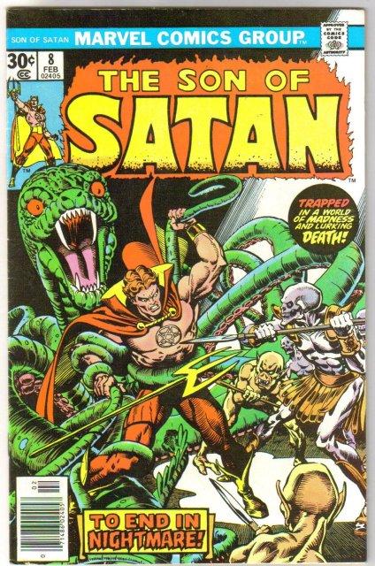 The Son of Satan #8 comic book very fine/near mint 9.0