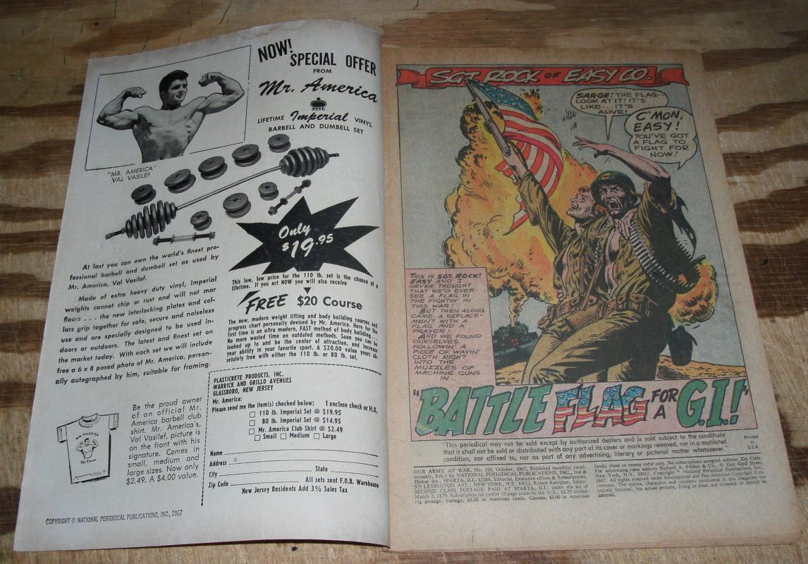Our Army at War featuring Sgt. Rock #185 very good/fine 5.0