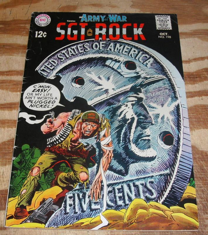 Our Army at War featuring Sgt. Rock #198 comic book very good/fine 5.0